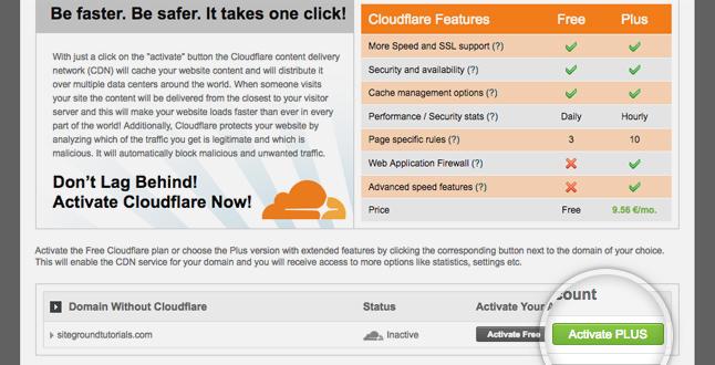 nâng cấp cloudflare có phí