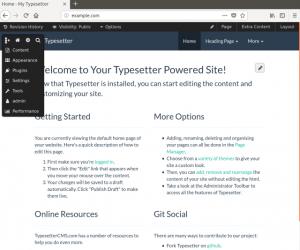 Hướng dẫn cài đặt Typesetter CMS trên server Ubuntu 18.04