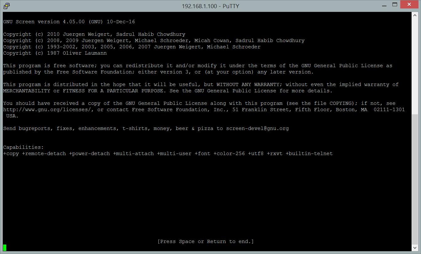Hướng dẫn sử dụng screen trong linux, giữ các tiến trình chạy mặc dù kết nối bị tạm dừng